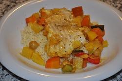 Couscous mit Fisch und Gemüse