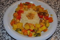 Couscous with vegetable ragout, light recipe