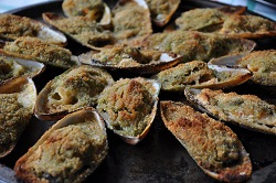 The mussels gratin: that goodness!