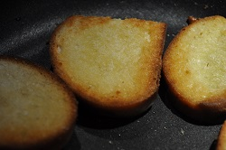 bread croutons for soups and soups