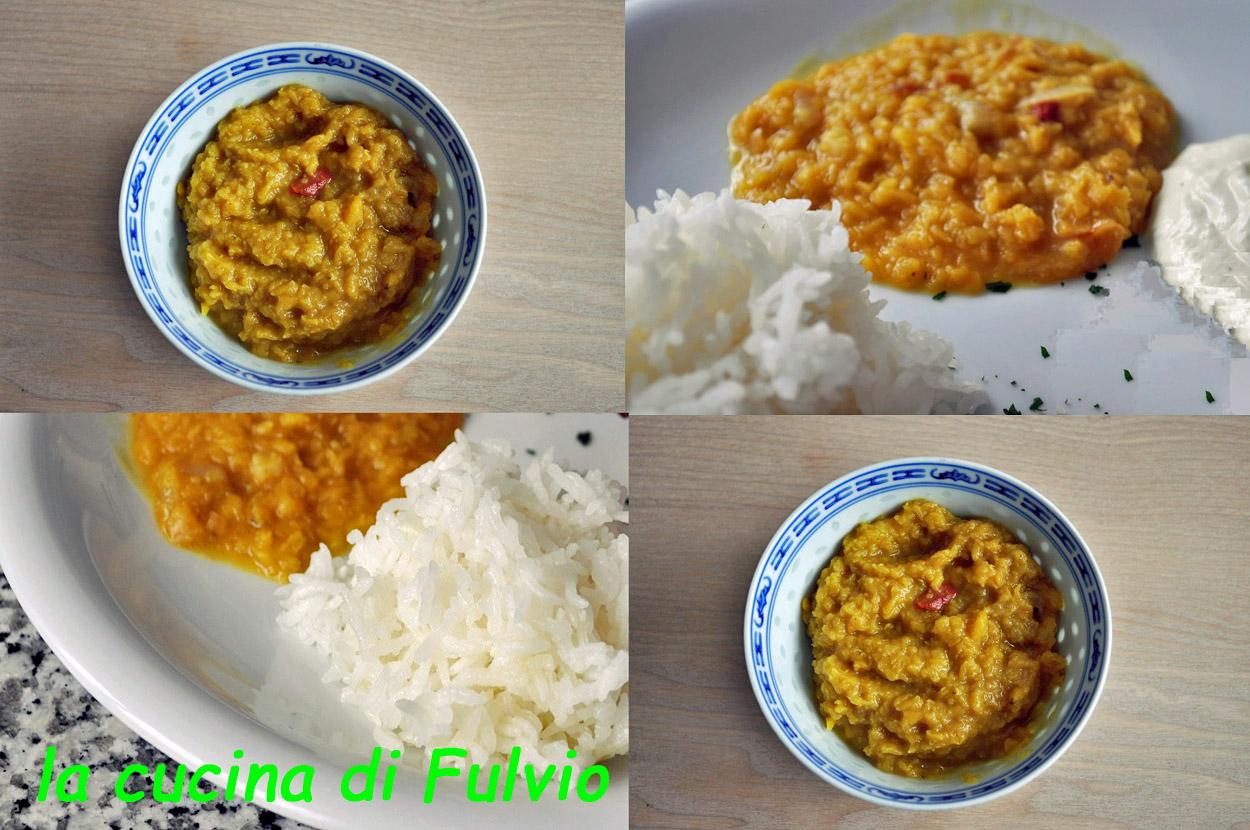 Einfache dhal Linsen, indische vegetarische Küche