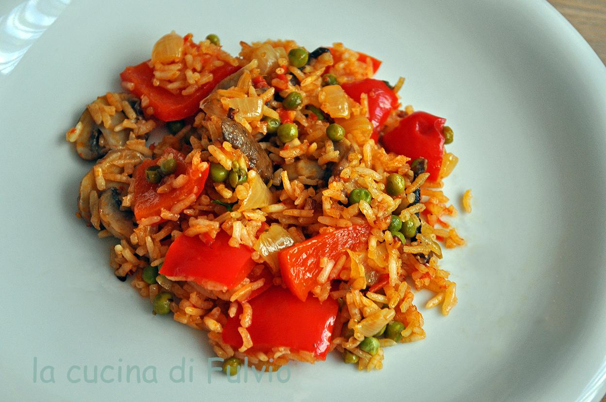 Đuveč rice in the rice cooker