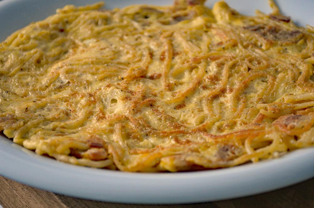 The spaghetti omelette