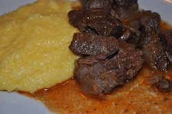 Polenta and goulash