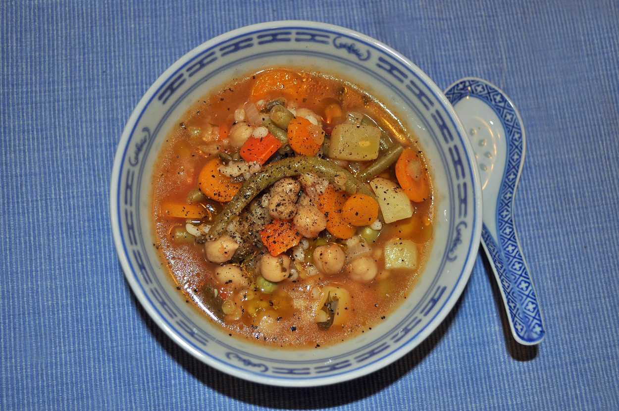 The minestrone: that empties ...