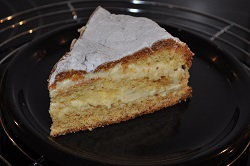 sponge cake filled with custard