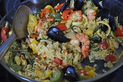 Paella di mare but ... baked like a pilaf