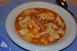 Pasta und Bohnen: was für eine Güte!