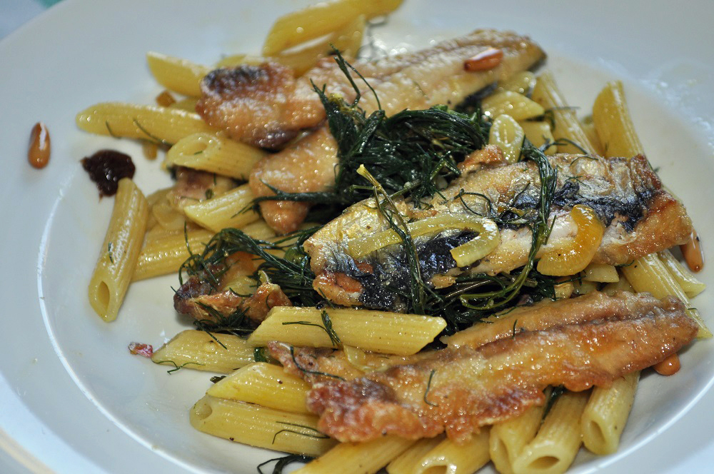 Pasta mit Sardinen, nach Palermo
