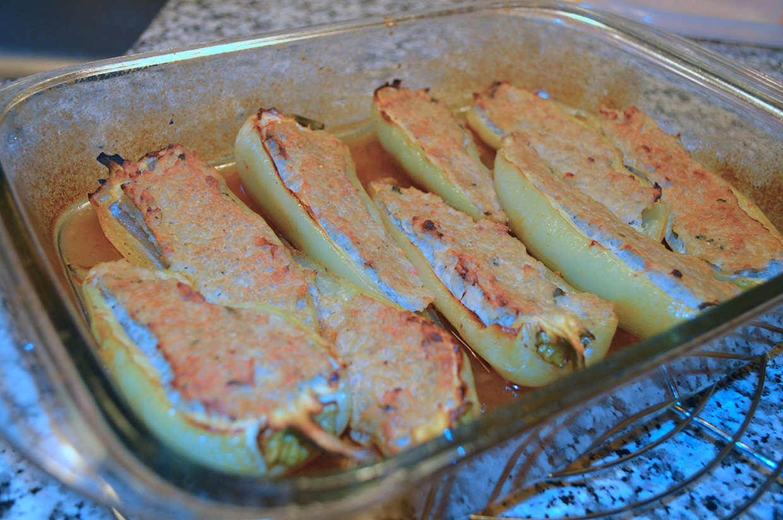 Mittelmeer gefüllte Paprika