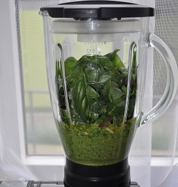 The fast pesto to the blender