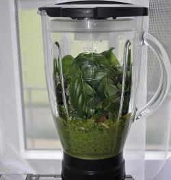 Schnell-Pesto in einem Mixer