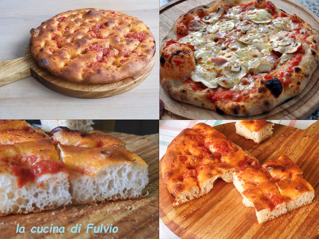 Pizzas, trays and focaccias, only one dough for each use