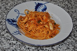 Spaghetti with cuttlefish!