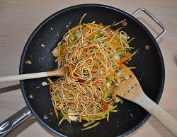 Wok of winter vegetables to Five Spice