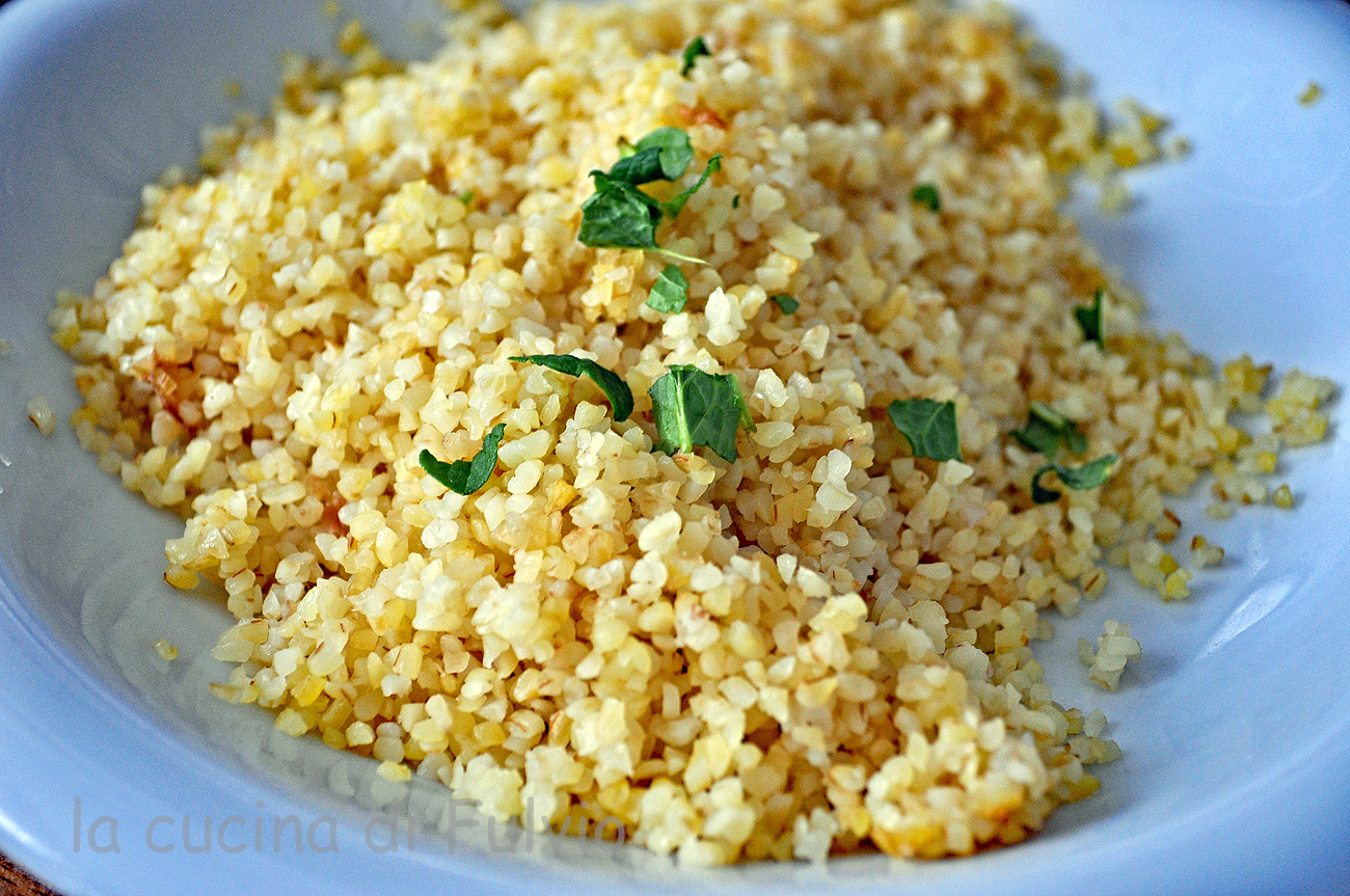 the bulgur in the rice cooker